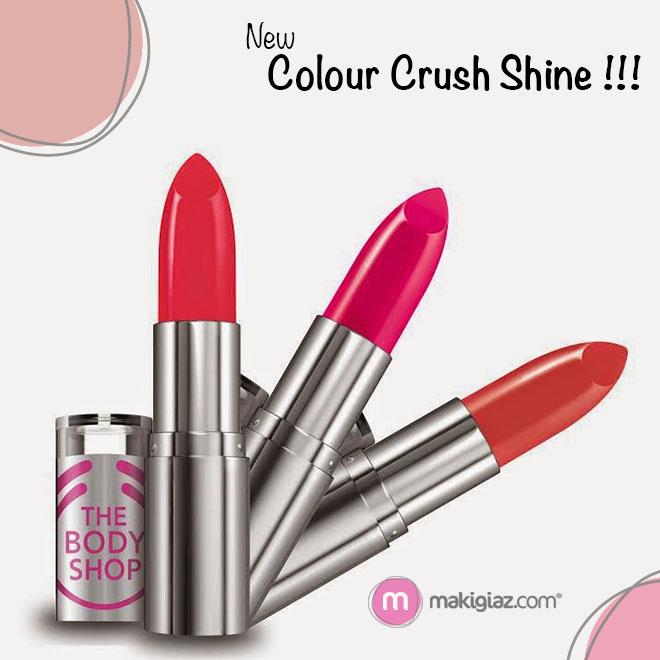 The Body Shop - New Colour Crush Shine Lipstick - Makigiaz Com