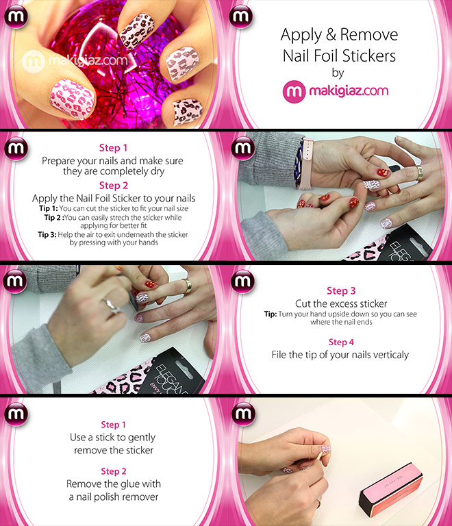 Apply And Remove Nail Foil Stickers By MakigiazCom